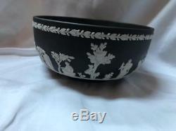 Wedgwood Black Solid Jasperware Sacrifica Bowl