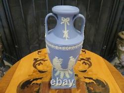 Wedgwood Blue Jasper Ware 9 Tall Muses Trophy Pedestal Vase Urn (1954)
