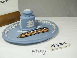 Wedgwood Blue Jasper Ware Desk Tidy, Superb & Extremely Rare!