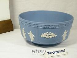 Wedgwood Blue Jasper Ware Millennium 2000 Celebration Large Bowl, Stunning