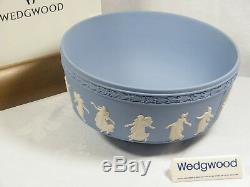 Wedgwood Blue Jasper Ware Millennium Dancing Hours by John Flaxman, Rare