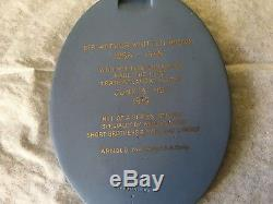 Wedgwood Blue Jasper Ware Plaque Sir Arthur Whitten Brown