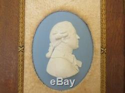 Wedgwood Blue Jasper Ware Sir Joshua Reynolds John Flaxman Oval Medallion, 1795