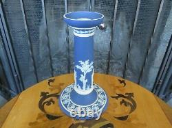 Wedgwood Blue Jasper Ware Terpsichore Erato Muses 8 Candle Stick Holder c. 1924