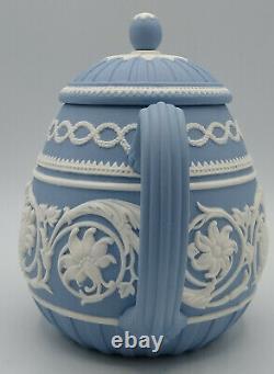 Wedgwood Blue Jasperware 250 Anniversary Teapot Mint Very Rare