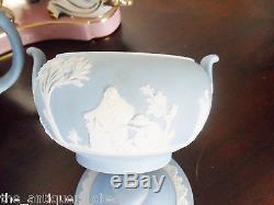 Wedgwood Blue Jasperware, 4 pieces, Neoclassical, 4 pieces tea set11