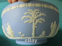 Wedgwood Blue Jasperware Bowl 3 1/2 X 8 77c