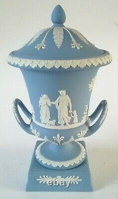 Wedgwood Blue Jasperware Campagna Urn Vase