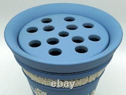 Wedgwood Blue Jasperware Potpourri Jar/Beaker