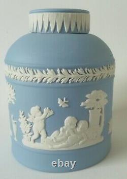 Wedgwood Blue Jasperware Tea Cannister / Tea Caddy