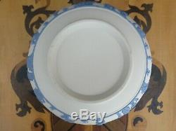 Wedgwood Blue on White Reverse Color Jasperware Sacrifice Figure 8 Arcadia Bowl