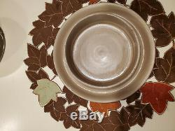 Wedgwood Brown/white jasperware cherub cheese, cake dome withunder plate MINT