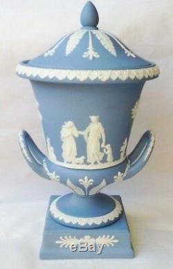 Wedgwood Campagna Urn Vase Blue Jasperware Campana Vase