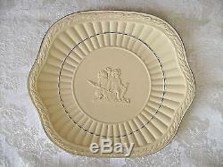 Wedgwood Cane Yellow With Dark Blue Jasperware Tray Or Platter With Cherubs