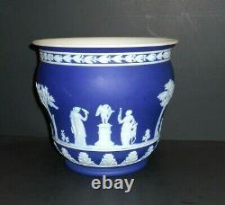 Wedgwood Cobalt Blue Jasperware Large Jardinaire Planterneo Classical Designs