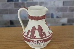Wedgwood Collectors Society Primrose Jasper Ware Terracotta Relief Etruscan Jug