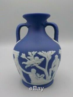 Wedgwood Commemorative Vintage Dark Blue Dip Portland Vase Jasperware 1929