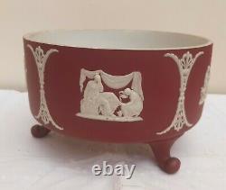 Wedgwood Crimson Dipped Jasperware Footed Centrepiece Crocus Bowl 7.5