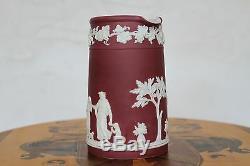 Wedgwood Crimson Jasper Ware Tall Trojan Pitcher Domestic Employment (c. 1900)