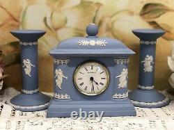 Wedgwood Dancing Hours Clock With Candle Holder In Very Good Condition