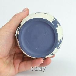 Wedgwood Dark Blue Jasperware Portland Vase / Amphora With Original Box