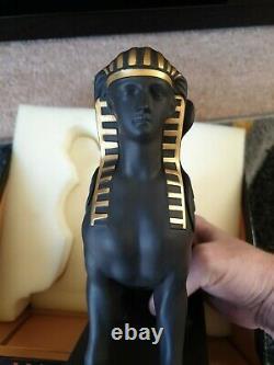 Wedgwood Egyptian Collection Basalt Gold Sphinx Ultra Rare Ltd Edition 100
