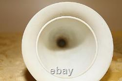 Wedgwood Etruria Yellow Jasper Ware Engine Turned Black Relief Vase (c. 1920s)