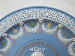 Wedgwood Five Color Jasper Ware American Independence Bicentennial Trophy Plate