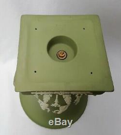 Wedgwood Green Jasperware Campagna Urn Vase Campana vase