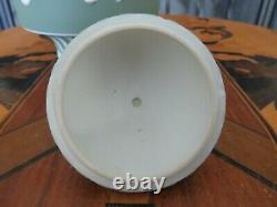 Wedgwood Green Jasperware Dancing Hours Engine Turned Stripes Urn Vase (c. 1890s)