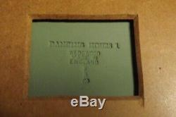 Wedgwood Green Jasperware Gold 7x13 Framed Mat DANCING HOURS 3x9 Plaque