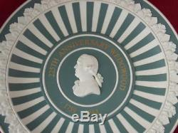 Wedgwood Green Jasperware Plate 225th Anniversary 1759-1984 Ltd Ed 199/225 Rare