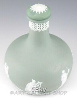 Wedgwood JASPERWARE SAGE GREEN 1770 HUMPHREY TAYLOR & Co LIQUOR DECANTER BOTTLE