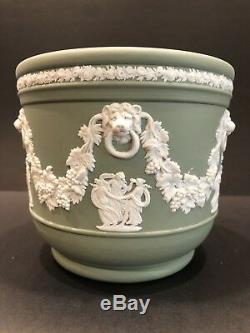 Wedgwood JASPERWARE Sage Green Jardiniere Flower Pot Planter Neoclassical