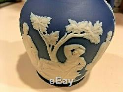 Wedgwood Japerware Antique Dark Cobalt Blue Dip 5 Portland Vase C1900 NICE