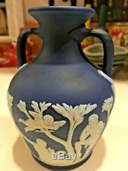 Wedgwood Japerware Antique Dark Cobalt Blue Dip 5 Portland Vase C1930-40 NICE