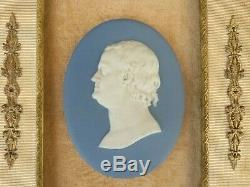 Wedgwood Jasper Ware Adam Smith Tassie Franklin Hackwood Medallion Cameo Plaque