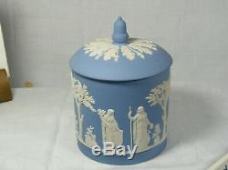 Wedgwood Jasper Ware Large Biscuit Barrel, Beautiful item never seen use