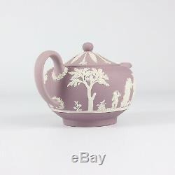 Wedgwood Jasper Ware Lilac Teapot