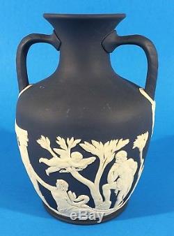 Wedgwood Jasperware 6 Cobalt Blue PORTLAND VASE 2 handle urn