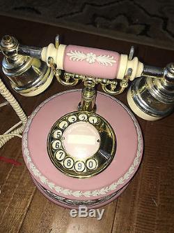 Wedgwood Jasperware Astral Telephone Rare Rotary Dial Pink 1986