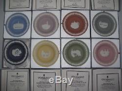 Wedgwood Jasperware Australian Cities Collection Miniature Plates All New In Box