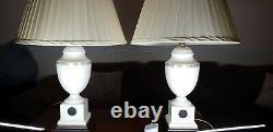 Wedgwood Jasperware Black Basalt Ceramic Porcelain Table Lamp cameo Laura Ashley