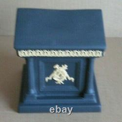 Wedgwood Jasperware Black & Cane Yellow Library Collection Temple Inkwell