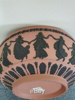 Wedgwood Jasperware Black on Terra Cotta 10+ Sacrifice Dancing Hours Bowl, Mint
