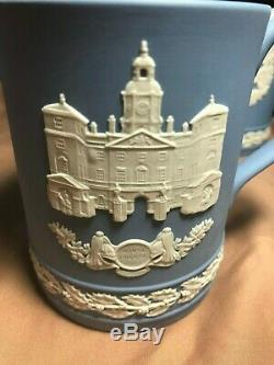 Wedgwood Jasperware Blue Christmas Mug Set (1976 1982)