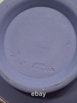 Wedgwood Jasperware Blue Cream on Lavender 1965 Teapot, Creamer and Sugar MINT