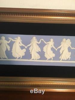 Wedgwood Jasperware Blue Dancing Hours Wall Plaque