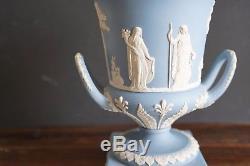 Wedgwood Jasperware Cream Color On Lavender Vase 12 Height