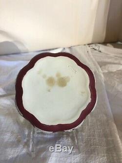 Wedgwood Jasperware Crimson/Red Round/Scallop Covered Box-Made in England c1929